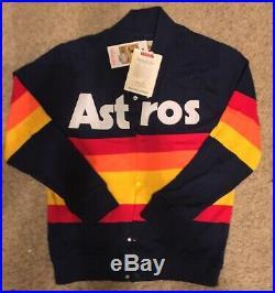 NWT Mitchell and Ness Houston Astros Sweater Jacket Kate Upton Medium (40)