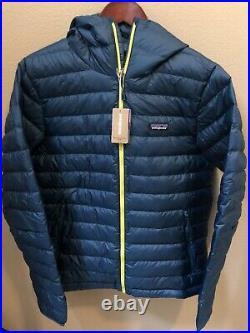 NWT Patagonia Mens Down Sweater Hoody Jacket Medium Crater Blue 84701 $279
