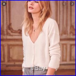 NWT Rare Sezane Barry Jumper Sweater Nude Ecru Color Medium M