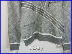 New 16p Chanel Silver White Airways Runway Sweater 40
