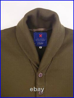 New $398 Best Made Co Dehen 1920 M Olive Shawl Cardigan Wool Sweater Made In USA