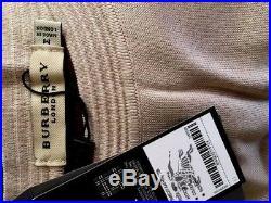 New Burberry check merino sweater tunic top dress 100% cotton