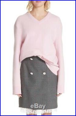 New CALVIN KLEIN 205W39NYC Logo Wool & Cotton Sweater Size Medium MSRP $690