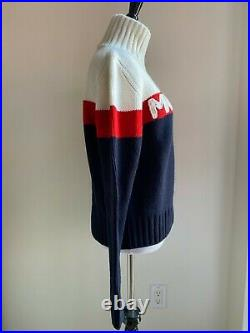 New With Tags Auth Moncler Red, White & Blue Sweater Size Medium Retail $1060