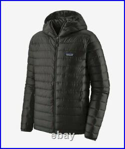 New with Tags Black Patagonia Down Sweater Jacket, Hooded, Men's Medium