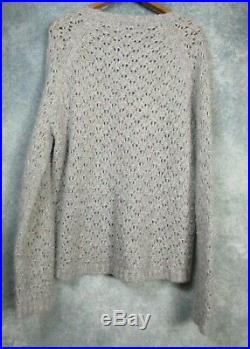 Nili Lotan $550 Millie Sweater in Light Grey Melange M