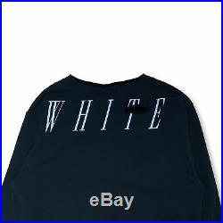 Off-White Distressed Crewneck Sweatshirt Medium Virgil Abloh Sweater