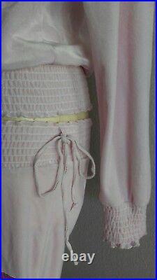 PLAYBOY Vintage PINK 2PC Sweatsuit Full Zip Hoodie Sweater & Sweat Pants Sz M