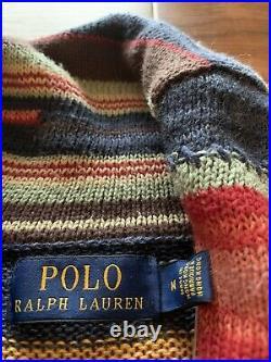 POLO RALPH LAUREN AZTEC SHAWL CARDIGAN PATCHWORK RRL INDAIN HEAD MENS M Flaw
