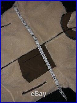 Patagonia Medium Retro-X Fleece Sweater Jacket Oatmeal Brown Deep Pile Sherpa