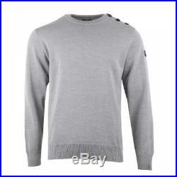Paul & Shark Mens Button Shoulder Knit Sweater (Grey)