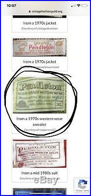 Pendleton High Grade Western Wear Sweater Zip Aztec 70s Vintage Vtg