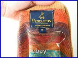 Pendleton Opening Ceremony Native Cardigan Sweater Size Mens Medium NWOT