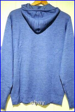 Peter Millar Cashmere Luxury Blend Full Zip Hoodie Sweater Mens Medium NWT $395