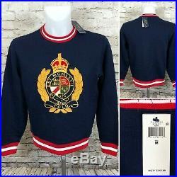Polo Ralph Lauren Crest Sweatshirt Sweater Navy Gold Men's Medium