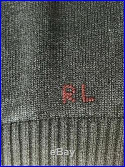 Polo Ralph Lauren Crew Neck Bear Sweater Men's Medium Grey NEW