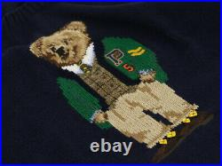Polo Ralph Lauren Crew Neck Polo Bear Sweater Pullover Limited Navy