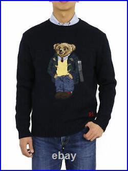 Polo Ralph Lauren Crew Polo Bear Sweaters Navy