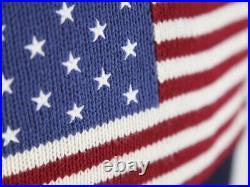 Polo Ralph Lauren Crew Pullover USA Flag Sweater Navy