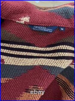 Polo Ralph Lauren Medium Chore Coat Aztec Sweater Jacket Southwestern RRL VtG