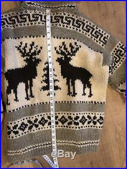 Polo Ralph Lauren Medium Cowichan Sweater Cardigan RRL VTG Southwestern Aztec