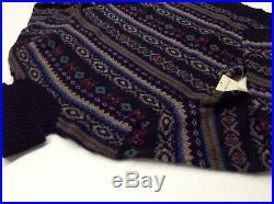 Polo Ralph Lauren Men 100% Wool Fair Isle Nordic Turtleneck Slim Knit Sweater M
