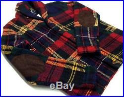Polo Ralph Lauren Men Wool Patchwork Southwestern Indian Aztec Sweater Cardigan