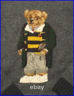 Polo Ralph Lauren Men's Grey Polo Bear Wool Pullover Sweater $398