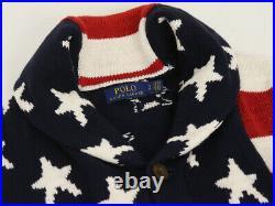 Polo Ralph Lauren Shawl Cardigan Sweaters Stars & Stripes USA Flag