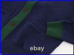 Polo Ralph Lauren Shawl Sweatshirt Cardigan Sweater w / Emblem Navy/Green/White