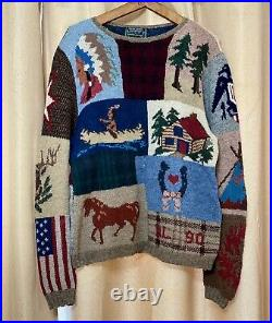 Polo Ralph Lauren Vintage Country Dry Goods 90 92 Stadium Snow Beach Medium L