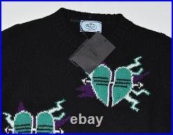 Prada Broken Hearts Frankenstein Sweater. Sz 40. Nwt