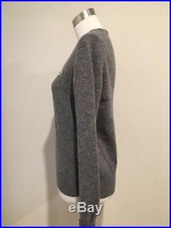 Pristine Classic gray MONCLER crewneck sweater S M