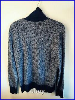 RARE 70s Gucci Vintage Cashmere Turtleneck Sweater in blue