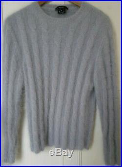 RARE! Gucci Mens Angora Rabbit Hair Sweater Jumper Grey Medium IT48 (Small IT46)