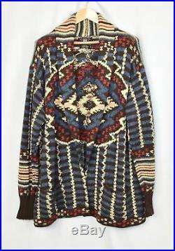 RRL Ralph Lauren Hand Knit Beacon Blanket Inspired Shawl Cardigan Sweater M