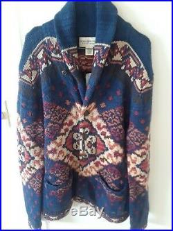 Ralph Lauren Denim and Supply Blue Shawl Collar Cardigan Sweater