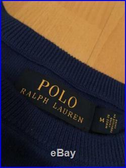 Ralph Lauren Polo Tennis Wimbledon Knit Sweater Vintage Hi Tech Stadium 1992