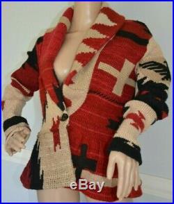 Ralph Lauren Purple Label Collection Navajo Sweater Coat Cardigan US 6 8 Medium