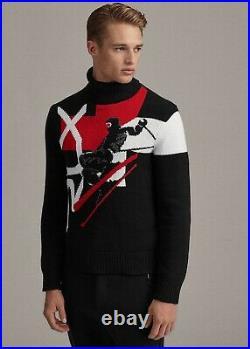 Ralph Lauren Purple Label RLX Stadium Intarsia Skier Cashmere Turtleneck Sweater