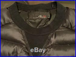 Ralph Lauren RLX Gentlemans Quilted Down Sweater Jacket Size Medium Black New