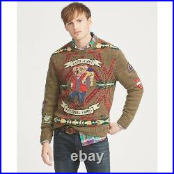 Rare Polo By Ralph Lauren Hiking Bear Outdoors Sweater Mens Sz M Authentic Grail