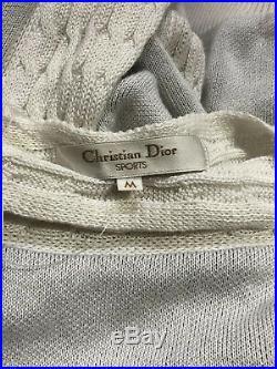 Rare Vtg Christian Dior Sports Logo Sweater M