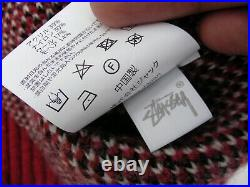 Red Stussy 8-ball mohair sweater Size M