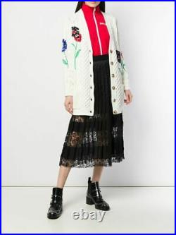 Red Valentino Embroidered Cotton Cardigan. Sz S/m/l. $1050