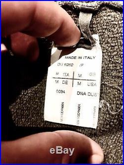 Rick owens drkshdw Heavy Quality Cotton Millitary Zip Sweater Size Medium