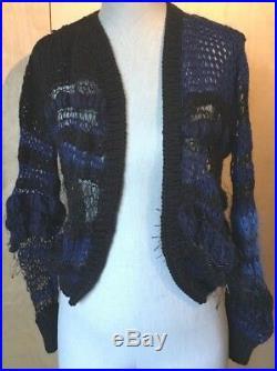Rodarte open weave mohair blend cardigan sweater size M FABULOUS! EUC