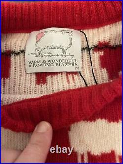 Rowing Blazers x Warm & Wonderful Sheep Sweater Princess Diana Size M