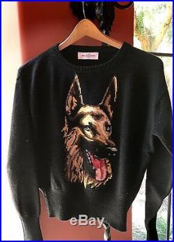 SALE Balenciaga German Shepherd Sweater Black SZ FR 38 = Fits US S-M