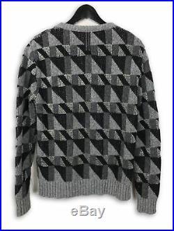 Saint Laurent Paris Geometric Sweater Medium